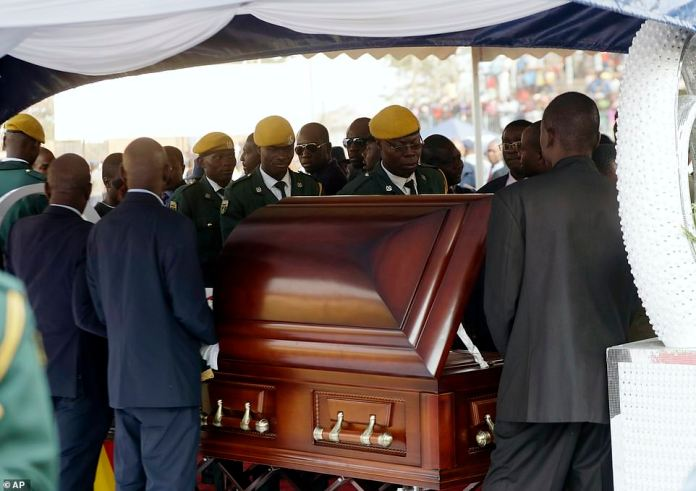Mugabe in Coffin